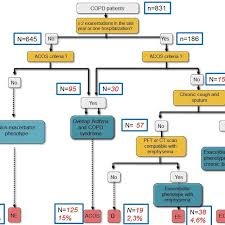 Copd Guidelines Chart Flow Chart And Algorithm Of Patients And Phenotypes