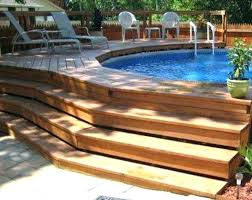 above ground pool deck cost estimator above ground pool deck the complete guide about multi level