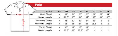 Polo T Shirt Size Chart Arts Arts