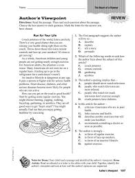 Author's Viewpoint Worksheet for 4th - 5th Grade | Lesson Planet