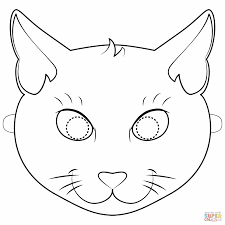 Black Cat Coloring Pages With Black Cat Mask Coloring Page Free