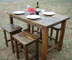 astounding outdoor dining room design with outdoor bar height bistro table set delightful outdoor dining