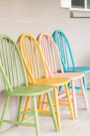 diy chalk paint furniture ideas with step by step tutorials colorful chalk painted chairs how to make distressed furniture for creative home decor