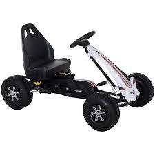 Homcom Go Kart A Pedali Per Bambini Colore Nero E Bianco Eprice