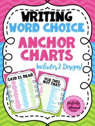 Writing Word Choice Anchor Chart Poster Set