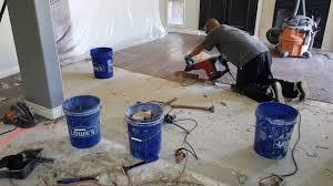 glue down wood floor removal