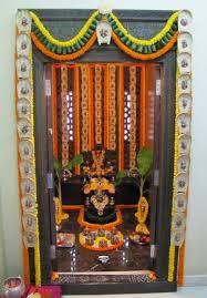 Ganpati Decoration Ideas At Home Ganesh Pooja Decoration Puja Delectable Flowers Decoration For Home Ideas