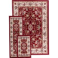 3 pc area rug set with 3 piece area rug set plus oriental weavers windsor 3 piece area rug set in red together with mainstays payton 3 piece area rug