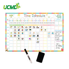 Magnetic Erasable Time Schedule Calendar Whiteboard Chore