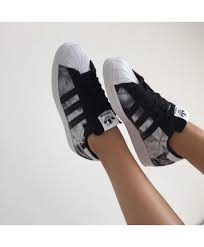adidas shoes superstar black. adidas originals superstar black floral shoes