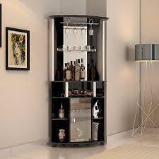 home bar furniture. Corner Bar Cabinet Wine Bottle Rack Stemware Liquor Storage Home Pub Furniture S