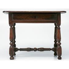 18th c antique oak side writing table