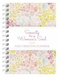 At A Glance Academic Planner 2020 17 2020 17 Month Creative Diary Planner Serenity For A Womans Soul