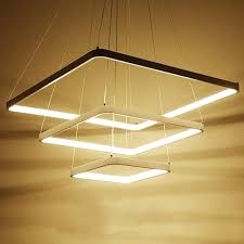 square pendant light modern square pendant light pendant lamp metal white hanging lamp home lighting fixture