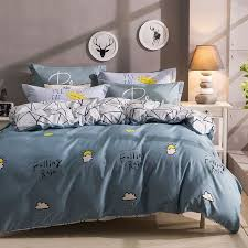 black white and slate blue sun cloud monogrammed print modern chic twin full size bedding sets