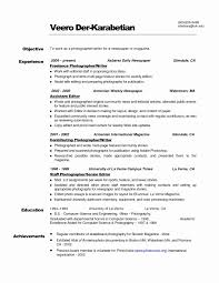 Resume Highlights Examples Photographer Resume Format Unique Resume Examples Sample Perfect 86