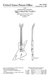 voodoo guitar 2017 original 1958 patents for what would become known as the futura left and moderne right