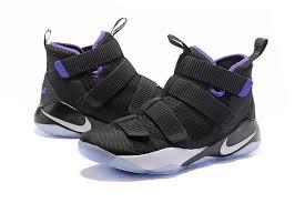 lebron purple shoes. new nike lebron soldier xi black purple silver shoes larger image
