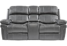 amazing home design tremendeous reclining loveseat with console in trevino smoke leather power loveseats reclining