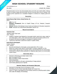 Objective For High School Resumes 10 Example High School Resume 1mundoreal