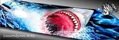 great white shark painting. Unique Great This A Fine Art Painting Custom Skateboard  Private Commissions  Available Great White Shark With Great White Shark Painting