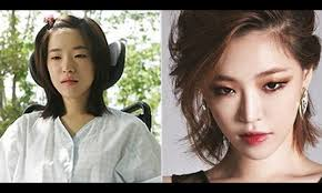 your favourite k pop idols with and without makeup