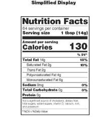 nutritional value of foods chart awesome federal register food labeling revision of the nutrition and
