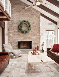 chimney stack living room rustic with farmhouse acrylic area rugs