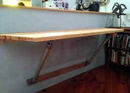 wall mounted folding table diy table