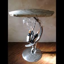 wine bottle holder table