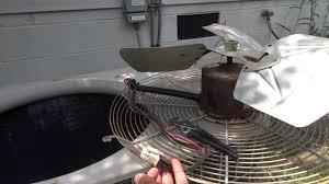 hvac air conditioner repair replacing the condensing fan motor hvac air conditioner repair replacing the condensing fan motor