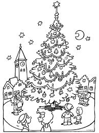 Kleurplaat Kerstboom Op Het Marktplein Kleurplatennl