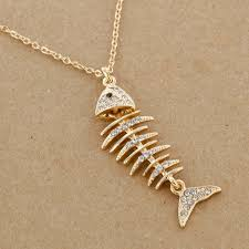 sbi n1329 fish bones necklace