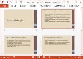 Bill Of Rights Powerpoint Eltern Bill Of Rights Vorlage Für Powerpoint