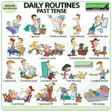 Exercise Daily Routine Chart Daily Routines Past Tense Woodward English