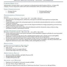 What Is The Objective Section On A Resume What To Type In The Objective Section Of A Resume Tolg 89