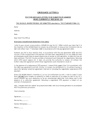 writing a grievance letter letter format  grievance
