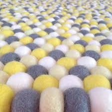 yellow and grey rugs bright modern rug stunning ideas felt ball in lemon white black gray yellow and grey rugs