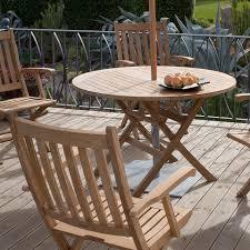 Moderner Esstisch Aus Teakholz Rund Für Den Garten Ascot