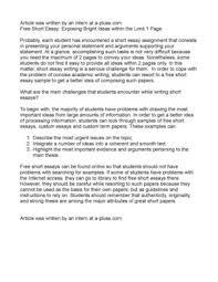 Short Essay Examples Free
