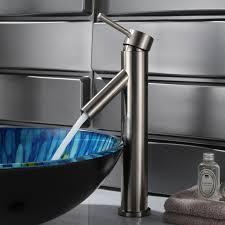 elite bn modern bathroom sink faucet brushed nickel finish