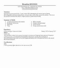 General Labor Resume Template - Sarahepps.com -