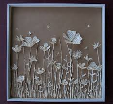 meadow book paper sculpture in shadow box on 3d paper flower shadow box wall art with 382 best being creative images on pinterest creative ideas good