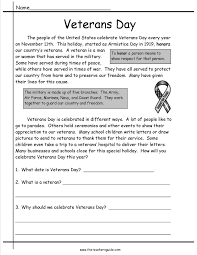 veterans day lesson plans themes printouts crafts veterans day comprehension story