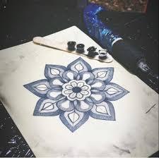 Tattoo Artist Academy Mandala Eseguito Con Tecnica Dotwork Da Un