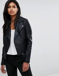 oasis leather look biker jacket w4a5 for women