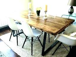 wood dining table with metal legs dining table white wash rustic wood metal wooden dining table