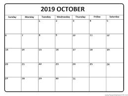 Free Clander Calendar October 2019 Free Printable Templates Free