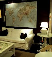 ikea premiar world map canvas wall art
