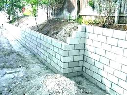 cost of concrete block wall retaining wall cost calculator cinder block building per metre cost of
